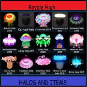 Royale High - Halo And Accessories And Set And Diamonds - Rh  read Description 