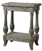 Spark And Spruce 20480-wl Hunter 25 X 20 Inch Waxed Limestone Side Table