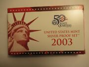 2003 Us Mint Silver Proof Set 10 Coins Mint Packaging