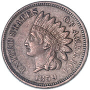 1859 Indian Head Cent About Uncirculated Penny See Pics J275