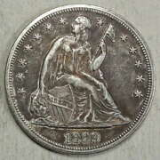 1869 Seated Liberty Dollar, High End Circulated Coin, Better Date  0421-22