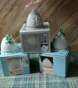 Lot Of 3 Lladro Porcelain Christmas Bells Org Boxes 3 Tall