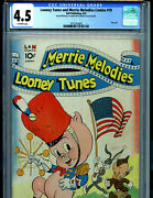 Merrie Melodies Looney Tunes 10 Cgc 4.5 1942 Golden Age Dell Publishing K9