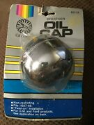 Vintage Cal Custom 6013 Twist On Chrome Oil Breather Cap Fits 1937 1966 Ford Gm