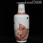 10.6andldquochinese Antique Kangxi Carp Leaping To The Dragonand039s Gate Wooden Bottles