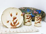 Rare Soko China Salt And Pepper Shakers 5 Sm Plates Hand Painted Made In Japan