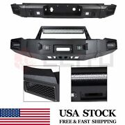 Heavy Duty Front Rear Bumper Biult-in 144w Leds For Chevy Silverado 07-13