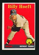 1958 Topps Billy Hoeft Yellow Letters 13 Nm