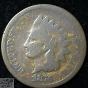 1876 Indian Head Penny, Cent, About Good+ Condition, Buy 4 Get 5 Off, C5337