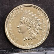 1860 Indian Cent - Pointed Bust - Ch Bu 37660
