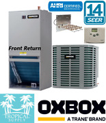 2 Ton Ac Split System Oxbox Condenser Front Return Heat Strips And Thermostat