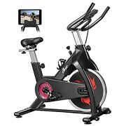 Fisup Exercise Bike 440 Lbs Capacity Indoor Cycling Bike Stationary With Belt Dr