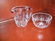 Waterford Lismore Cut Crystal Open Sugar And Creamer