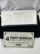 4oz Silver Proof Psalm 23 Bar With Box And Paperwork
