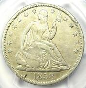 1858-s Seated Liberty Half Dollar 50c - Certified Pcgs Vf Details - Rare Date