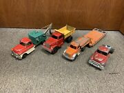 Vintage 1950's Metal Hubley Kiddie Toy Truck Lot 492, 494, 506, 801and 494 Chassis
