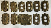 Vintage Light Switch And Plug Receptacle Outlet Covers Cast Iron Heavy
