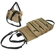 Super Roll Tool Roll, Roll Up Tool Pouches, Waxed Canvas Tool Tray, Tool Roll