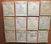 1950 Royal Howdy Doody Coloring Card Set 12 Comp Unopened Boxes +1 Opened