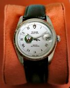 Rare Tudor Uae Army Military Crest Date 74020 Automatic Perfect Running