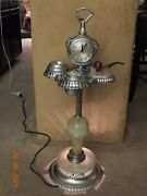 Vtgandnbsp Ashtray Stand With Clock