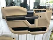 17-20 Ford F250sd Left Front Door Trim Panel, Power Switchs, Tan/black