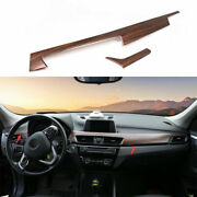 Fit For Bmw X1 F48 2016-2021 Pine Wood Grain Middle Console Dashboard Panel Trim