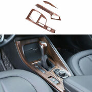 For Bmw X1 F48 2016-2021 Pine Wood Grain Middle Console Gear Shift Panel Trim