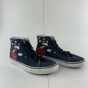 Unisex Sk8-hi Skate Shoes Peanuts Snoopy Flying Ace Men's 6.5 Womens 8