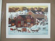Charles Wysocki Page's Bake Shoppe Signed And Numbered 433/1000 Le Print