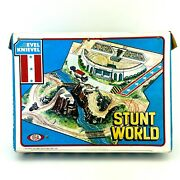 Evel Knievel Stunt World Case Ideal Toys 1970and039s Vintage Rare