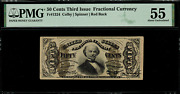 Fr-1324 0.50 Third Issue Fractional Currency - 50 Cents - Graded Pmg 55