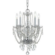 Crystorama 1129-ch-cl-s Traditional Crystal Mini Chandelier Polished Chrome