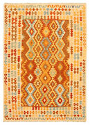 Hand Woven Turkish Kilim 6and03910 X 9and0397 Bold And Colorful Flat Weave Rug