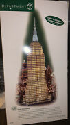 Rare Dept 56 Andldquoempire State Buildingandrdquo Christmas In The City Series With Box