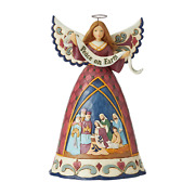 Jim Shore 6006649 A Savior Is Born - Nativity Angel With Peace Banner 2020 New