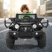 Electric Battery Powered Toys 12v Ride On Car Kids Rc Remote Control Mp3 Black