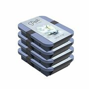 Wandp Peak Silicone Everyday Ice Tray W/ Protective Lid | Blue Set Of 4 | Easy ...