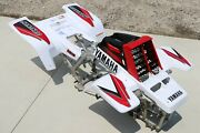 Yamaha Banshee Fenders + Gas Tank Plastic + Grill + Graphics White And Red 2000