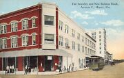 Fl - 1910's Florida Trolley On Avenue C In Miami, Fla -townley And Ralston Bldgs.