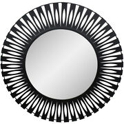 Moe's Home Collection Ty-1038-02 Radiate 44 X 44 Inch Black Mirror