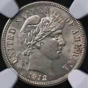 1912 Barber Dime Ngc Ms 63+ Super Nice Lustrous Silver White And Well Deserving