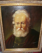Netherlands Portray Of An Old Scholar Topman H J 1907 - Oil Mid 20th Cent