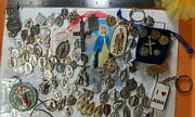 Large Lot Vintage To Now Catholic Religious Medals Findings Jewelry Parts