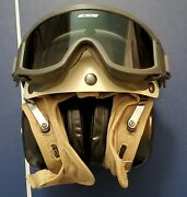 Flight Deck Crewmanand039s Helmet Size7.5 Helmet With Goggles And Hearing Protection.