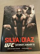 Anderson Silva Vs Nick Diaz Ufc 183 Program Signed By Fighters