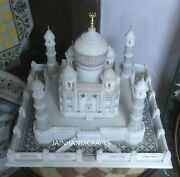 18and039and039 White Marble Taj Mahal Collectible Replica Use Table Top Center Home Dec