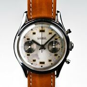 Gerda Watch Valjoux 23 37mm Stainless Steel Small Pusher Amazing Case Patina