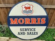 Morris 1960/s Original Service And Sales Sign Double Sided Superb