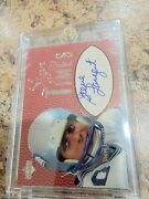 Steve Largent Upper Deck Signs Of The Timed Auto Seattle Seahawks
